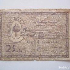 Billetes locales: BILLETE LOCAL 25 CENTIMOS GUIAMETS RR 1937 GURRRA CIVIL. Lote 151543026