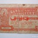 Billetes locales: BILLETE LOCAL 1 PESETA RIPOLLET 1937 GUERRA CIVIL. Lote 151875566