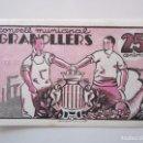 Billetes locales: BILLETE LOCAL 25 CENTIMOSN GRANOLLERS S/C 1937 GUERRA CIVIL. Lote 151883038