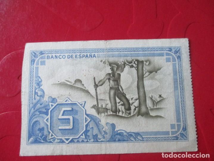 Billetes locales: Banco de España en Bilbao. billete de 5 pesetas 1937 - Foto 2 - 155488626