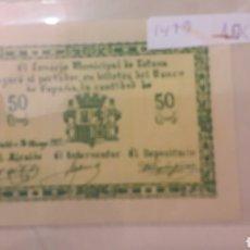 Billetes locales: CONSEJO TOTANA 1937 50 CTMOS NUEVO. Lote 155761312