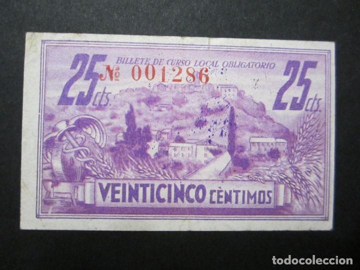 Billetes locales: 25 céntimos de Ainsa (Huesca) precioso - Foto 2 - 159132250