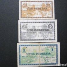 Billetes locales: 25 Y 50 CÉNTIMOS Y 1 PESETA DE TAMARITE (HUESCA) SERIE COMPLETA. Lote 159132942