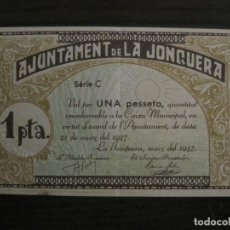 Billetes locales: LA JONQUERA-1 PESETA-BILLETE LOCAL-VER FOTOS-(V-16.712). Lote 162062318