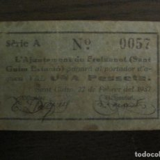 Billetes locales: FREIXANET-1 PESSETA-BILLETE LOCAL-VER FOTOS-(V-16.714). Lote 162063534