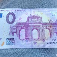 Billetes locales: BILLETE 0 EUROS PUERTA ALCALÁ DE MADRID SIN CIRCULAR. Lote 163546868