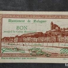 Billetes locales: BILLETE LOCAL 50 CÉNTIMOS AYUNTAMIENTO DE BALAGUER. Lote 164583762