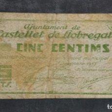 Billetes locales: BILLETE LOCAL 1 PESETA AYUNTAMIENTO DE CASTELLET DE LLOBREGAT. Lote 164590278