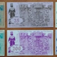 Billetes locales: SERIE, POSIBLEMENTE COMPLETA, DE BILLETES MARAVEDÍS FESTA DA ISTORIA DE RIBADAVIA (GALICIA) (1998). Lote 168328364
