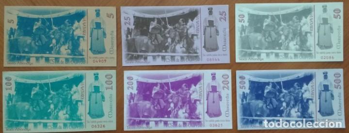Billetes locales: SERIE, POSIBLEMENTE COMPLETA, DE BILLETES MARAVEDÍS FESTA DA ISTORIA DE RIBADAVIA (GALICIA) (1998) - Foto 2 - 168328364