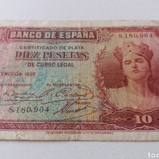 Billetes locales: REGIMIENTO INFANTERIA URSS N. 3. 1 BATALLON. 10 PESETAS. USO MILITAR. ESCASO. Lote 169972176