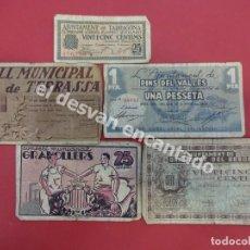 Billetes locales: GUERRA CIVIL. LOTE DE BILLETES LOCALES. ALGUNAS SEÑALES DE USO. Lote 171508440