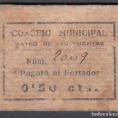 Billetes locales: * CONCEJO MUNICIPAL. MATEO DE LAS FUENTES. * 0,50 CTS.. Lote 172657405