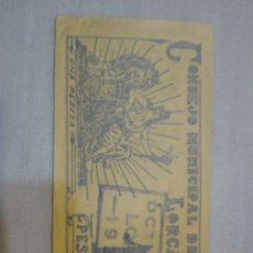 Billetes locales: CONSEJO MUNICIPAL DE LORCA UNA PESETA. Lote 173533138