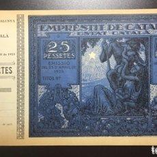 Billetes locales: EMPRESTIT DE CATALUNYA. ESTAT CATALÀ. 25 PESETAS 1925 CON MATRIZ.. Lote 175704479