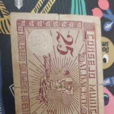 Billetes locales: BILLETE LOCAL DE 25 CENTIMOS ALBACETE. Lote 177720038