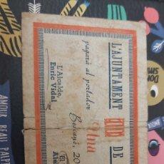 Billetes locales: BILLETE LOCAL DE 1 PESETA DE BESCANO. Lote 177720447