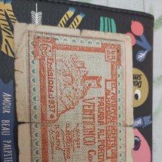 Billetes locales: BILLETE LOCAL DE 25 CENTIMOS ALHAMA. Lote 177721072