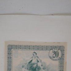 Billetes locales: BILLETE CEDULA LOCAL HOSPITAL DE SAN JOSÉ ARCOS DE VALDEVEZ PORTUGAL 20 CENTAVOS. Lote 177872998