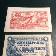Billetes locales: VILASSAR DE MAR 1/50CTS. Lote 179046862
