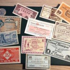 Billetes locales: LOTE BILLETES REPUBLICA PUEBLOS. Lote 179048196