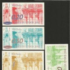 Billetes locales: LOTE DE 5 BILLETES -LA VILLA ORENSANA DE RIBADAVIA- FESTA DA ISTORIA, AÑO 2008.. Lote 179059537