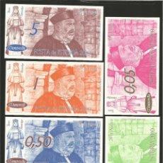 Billetes locales: LOTE DE 6 BILLETES -LA VILLA ORENSANA DE RIBADAVIA- FESTA DA ISTORIA, AÑO 2010.. Lote 179059731