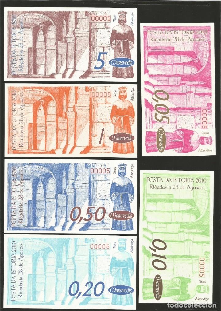 Billetes locales: Lote de 6 billetes -La Villa Orensana de Ribadavia- Festa da Istoria, año 2010. - Foto 2 - 179059731