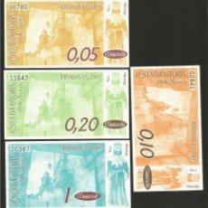 Billetes locales: LOTE DE 4 BILLETES -LA VILLA ORENSANA DE RIBADAVIA- FESTA DA ISTORIA, AÑO 2009.. Lote 179060321
