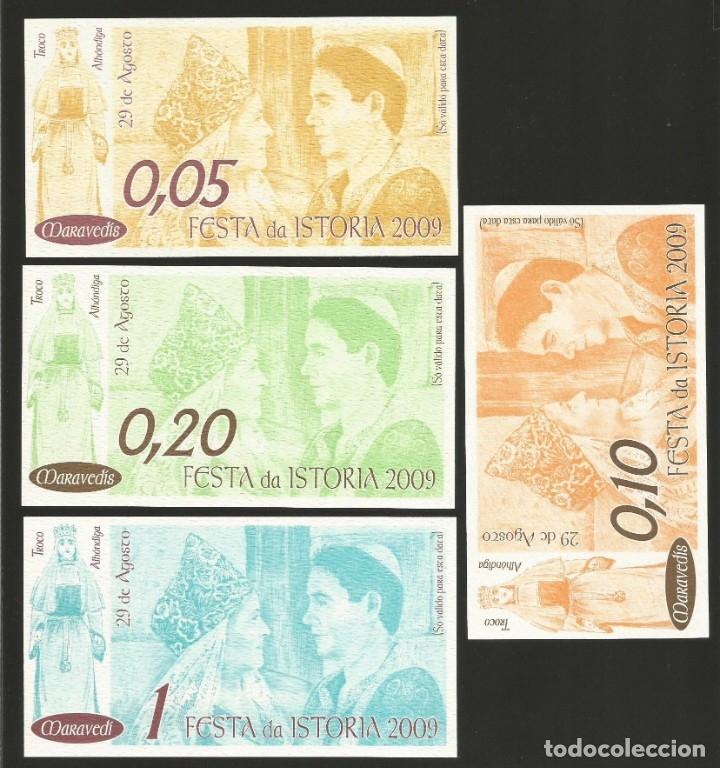 Billetes locales: Lote de 4 billetes -La Villa Orensana de Ribadavia- Festa da Istoria, año 2009. - Foto 2 - 179060321
