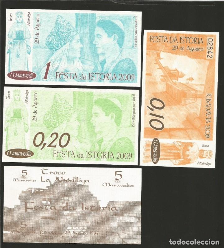 Billetes locales: Lote de 4 billetes -La Villa Orensana de Ribadavia- Festa da Istoria, . - Foto 2 - 179061243
