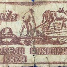 Billetes locales: BILLETE LOCAL CONSEJO MUNICIPAL DE BAZA ( GRANADA ). 1 PTA.. Lote 179241462