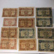 Billetes locales: ALCAÑIZ LOTE 1/50CTS. Lote 180119737