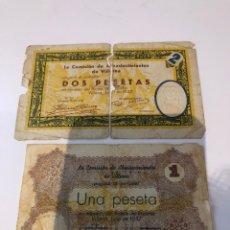 Billetes locales: VILLENA 1/2 PESETAS 1937. Lote 180120675