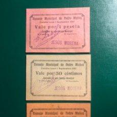 Billetes locales: CONSEJO MUNICIPAL DE PEDRO MUÑOZ SERIE 1/50/25 CTS 1937 CIUDAD REAL PERFECTO ESTADO. Lote 180264222