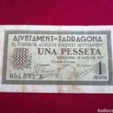 Billetes locales: TARRAGONA. 1 PESSETA. MBC. Lote 180267381