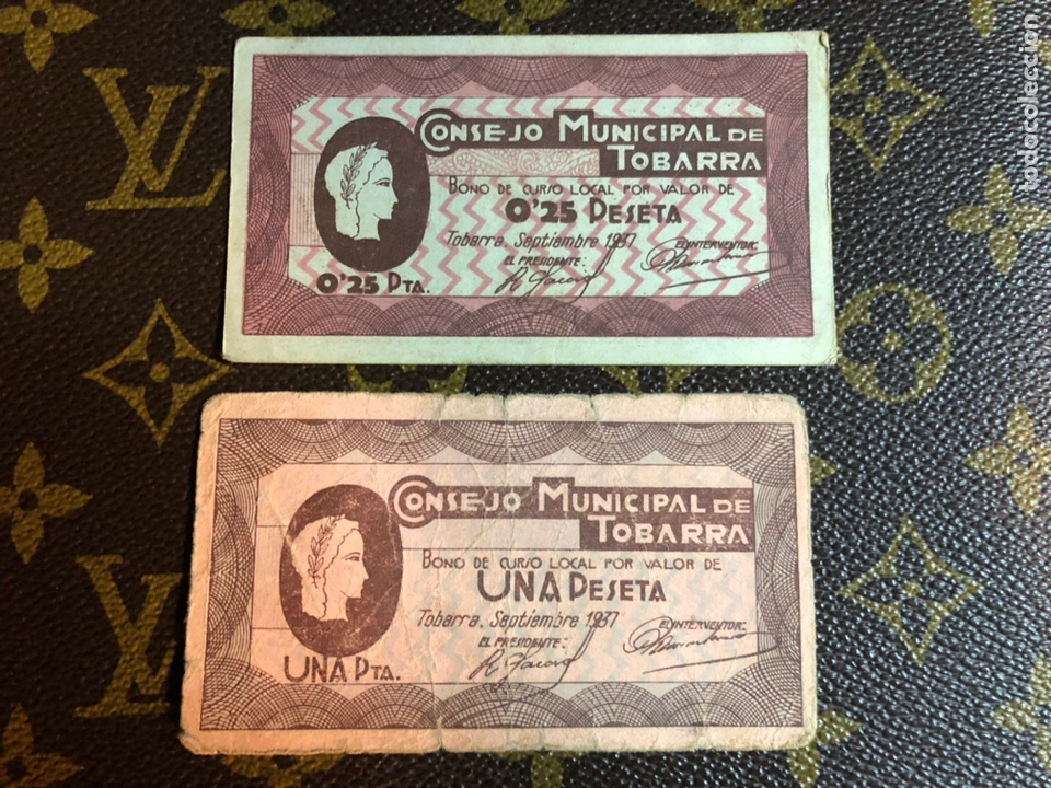 CONSEJO MUNICIPAL DE TOBARRA ALBACETE 1/0,25 CTS (Numismática - Notafilia - Billetes Locales)