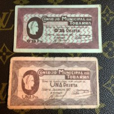 Billetes locales: CONSEJO MUNICIPAL DE TOBARRA ALBACETE 1/0,25 CTS. Lote 182641970