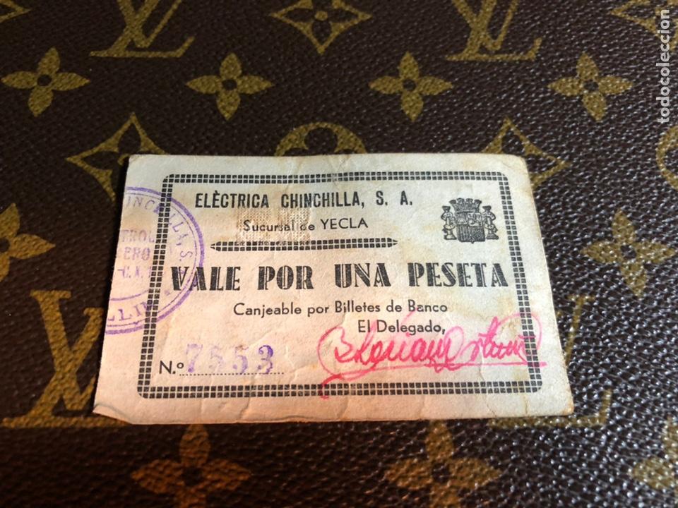 ELECTRICA CHINCHILLA SA SUCURSAL DE YECLA MURCIA (Numismática - Notafilia - Billetes Locales)