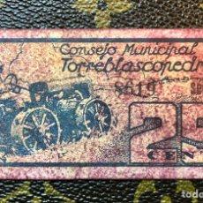 Billetes locales: CONSEJO MUNICIPAL DE TORREBLASCOPEDRO JAEN 25 CENTIMOS SERIE A. Lote 182709281