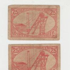 Billetes locales: LOTE DE 2 BILLETES GUERRA CIVIL LINARES JAEN. Lote 183552832