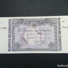 Billetes locales: BILLETE DE 1000 PESETAS DE BILBAO DEL AÑO 1937.DE LA GUERRA CIVIL ESPAÑOLA.. Lote 183586143