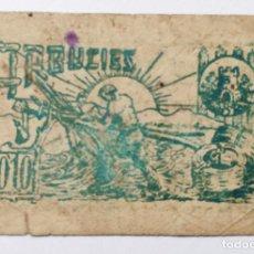 Billetes locales: 10 CENTIMS AJUNTAMENT ARBUCIES 1937 - BILLETE LOCAL - 10 CENTIMOS - GERONA. Lote 184200287