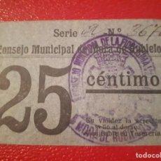 Billetes locales: BILLETE DE MORA DE RUBIELOS - 25 CÉNTIMOS . Lote 187332280