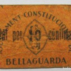 Billets locaux: BELLAGUARDA (LLEIDA). VALE POR 10 CENTIMOS. SIN FECHA DE EMISION NIVENCIMIENTO. LOTE 1328. Lote 190466202