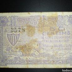 Billets locaux: BILLETE LOCAL 50 CÉNTIMOS ULLDECONA (TARRAGONA). Lote 191116463