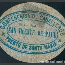 Billets locaux: BILLETE LOCAL PUERTO DE SANTA MARIA (CADIZ) 1 RACION PAN. ESCASO.. Lote 191498367