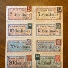Billetes locales: CARBONERAS ALMERIA GUERRA CIVIL CUPONES VALES CON SELLOS. Lote 192097522