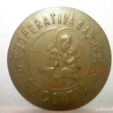 Billetes locales: FICHA DINERARIA...COOPERATIVA..SAN JOSE..AZCOITIA..100 PESETAS.. Lote 192978220