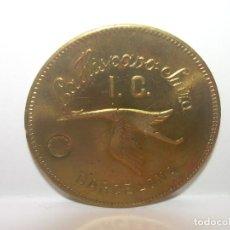 Billetes locales: FICHA DINERARIA...COOPERATIVA LA ..HISPANO SUIZA..BARCELONA...1 PESETA.. Lote 192979511